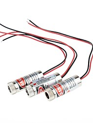 Cabeça DIY HLM230 5mW 650nm Red Laser Focusable - 3pcs (4.5-5V)