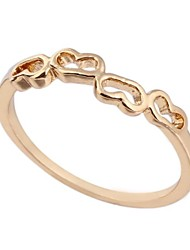 Women's New Fashion 18K Gold Plated Hollow Dainty Ring WJ0007