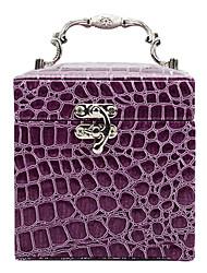 1 stuks Jewelry Box Makeup Box Krokodil Hand In drie lagen van leer sieraden doos