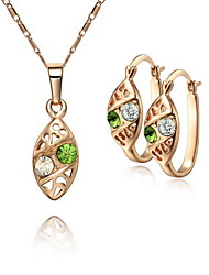 Fanccy Fashion Earrings Necklace SetS0001_2 Screen Color(Necklace:45CM)