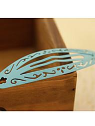 esvaziar do clipe hairpin topo clipe borda entrega aleatória cocar oval cabelo laca