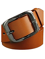 Woman's Belts  Genuine  Leather  Pin  Buckle   Belt