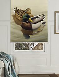 Modern Art Style Ducks Roller Shade