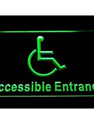 I1054 handicap para personas minusválidas neón entrace signo luz