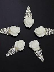 10pcs 3d sorvete strass flor de acessórios diy da arte do prego decoração