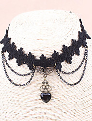 Wanni Women's Gothic Style Court Lace Necklace