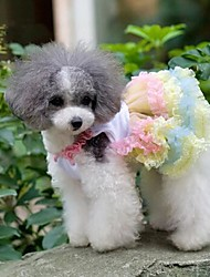 Dog Dress Yellow Spring/Fall Bowknot Wedding / Cosplay