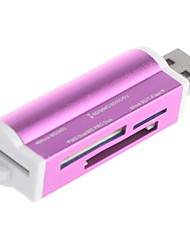 Saxophon-012 Mini-Stil High Speed ​​USB 2.0 SD / MMC / Micro-SD-Kartenleser