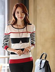 Clement Women's New Korean Slim Round Collar Long Sleeve Bottoming Knitwear Sweater Bottoming Shirt