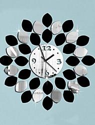 Wall Clock adesivos adesivos de parede, estilo moderno deixa de parede espelho acrílico adesivos