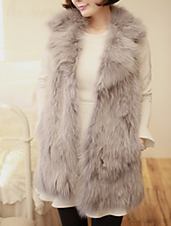 YIFULU Sleeveless Slim Fashion Temperament Elegance Lapel Neck Fur Waistcoat