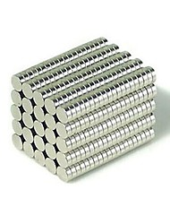 100pcs 3 x 2mm DIY Buckyballs and Buckycubes Cylinder Magnet Toys