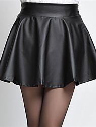 Faldas ( PU )- Casual/Fiesta/Trabajo Sin Mangas para Mujer
