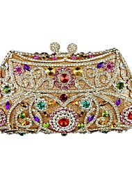 Women's Pillow Design Rhinestone Glass Stone  Evening Box Clutch