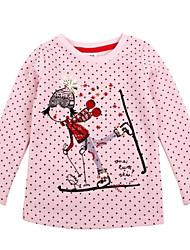t shirt bonitos globais bolinhas da menina imprimir manga longa crianças antumn inverno t-shirt impressão aleatória