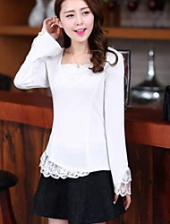 Women's Solid Colored Body Chiffon Fitting long Sleeved Shirt
