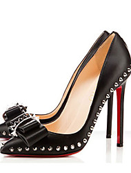 Patent Leather Women's Stiletto Heel Pointed Toe Pumps/Heels Shoes