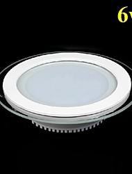 6w ronde masque de verre Panneau lumineux LED SMD 5730 mini lampe de la cuisine conduit plafonniers AC85-265V