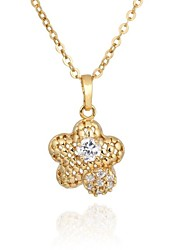 Women's  Fashion Flowers Design 18K Gold Plated Necklace