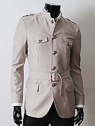 homens dda lapela pescoço tudo combinando casaco cor sólida