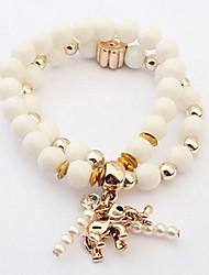 Strand Bracelets Vintage Style Gold Elephant Beads Bracelet