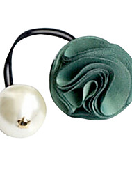 Fashion Rose With Pearl Fabric Hair Ties Random Color
