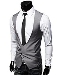 корейский Slim V-образным вырезом жилет пиджак
