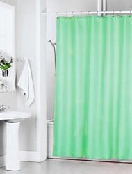 verde sólida cortina de ducha de poliéster