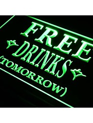 i649 FREE DRINKS TOMORROW Beer Bar Neon Light Sign