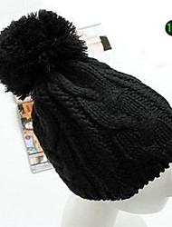 Unisex Winter Comfortable and Warm Wool Knitting Twist Texture Beanie