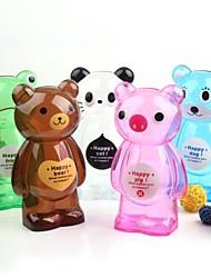 Cartoon Animals Plastic Transparent Money Saving Box Bottle Money Box (Random Color)