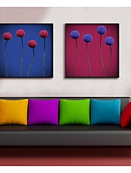 Flower Decorative Painting Framed Canvas Print Set of  2