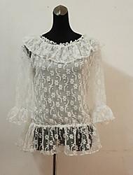 Modelo lindo Corazón cariñoso dulce blanco Blusa Lolita