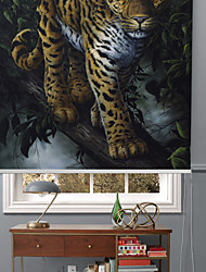 Modern Oil Painting Style Tiger Roller Shade