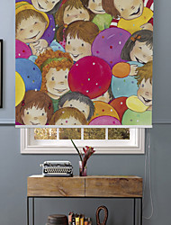 Cartoon Happy Children Roller Shade