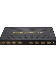Splitter HDMI 1 entrée boîte de commande de l'amplificateur 16 de sortie hub 1x16 hdtv 1080p 3D, support edid, 4Kx2K, v1.4