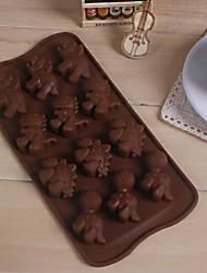 12 отверстий форма динозавр торт льда желе шоколадные формы, силиконовые 21,4 × 10,8 × 1,5 (8,4 × 4,3 × 0,6 дюйма)