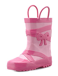 Rubber Children's Flat Heel Lovely Rain Boot Shoes