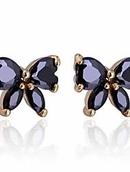 venta caliente hermosa mariposa de color negro pendiente de las mujeres