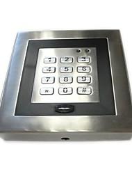 EM cartão sistema independente de controle de acesso com teclado de metal, luz de fundo azul, à prova de intempéries para py-AC90