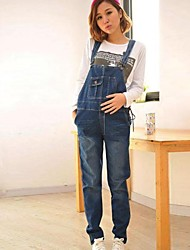 Maternity's Fashion And Comfortable Elastic Conjoined Jeans