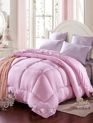 Shuian® Comforter Quilt Keep Warm Thickening Composite Quilts Pink Color