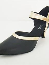 cuero buckie superior de salón latino zapatos de las mujeres de los altos talones