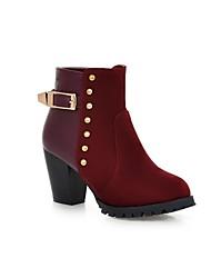 zapatos de mujer fornida Botín tacón con remaches zapatos casuales más colores disponibles