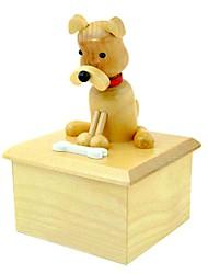 Animal Pattern Wooden Revolving Music Box Toys(Random Pattern)