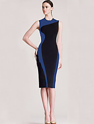 Monta Western Styles Contrasting Color Slim Fit Dress