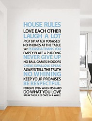 JiuBai™ House Rule Home Decoration Wall Sticker Wall Decal