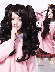 Zipper Dark Girl Black Curly Long Gothic Lolita Wig