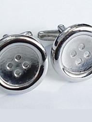 Groom/Groomsman Button Design Brass Cufflinks