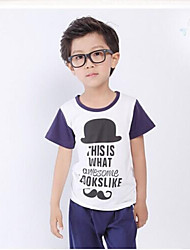 Boy's Short-Sleeved T-shirt Cartoon T-shirt Casual Clothing